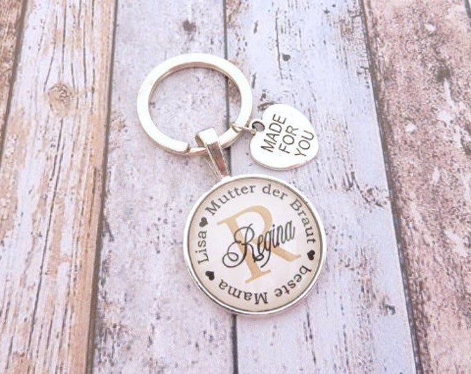 Gift Bridal Mother, Personalized Keyring, Gift Mother of the Bride, Keyring Gift to Wedding