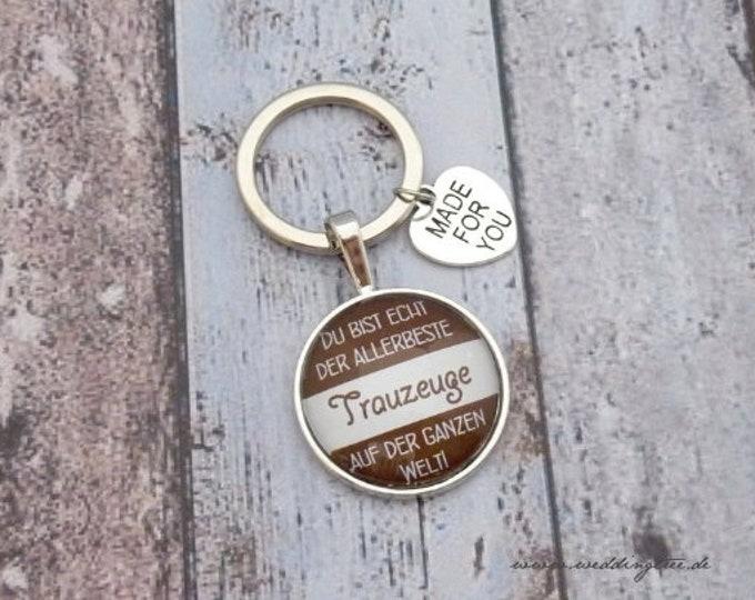 Witness pendant, keychain, gift friend of groom, gift to wedding, best friend, very best mourner