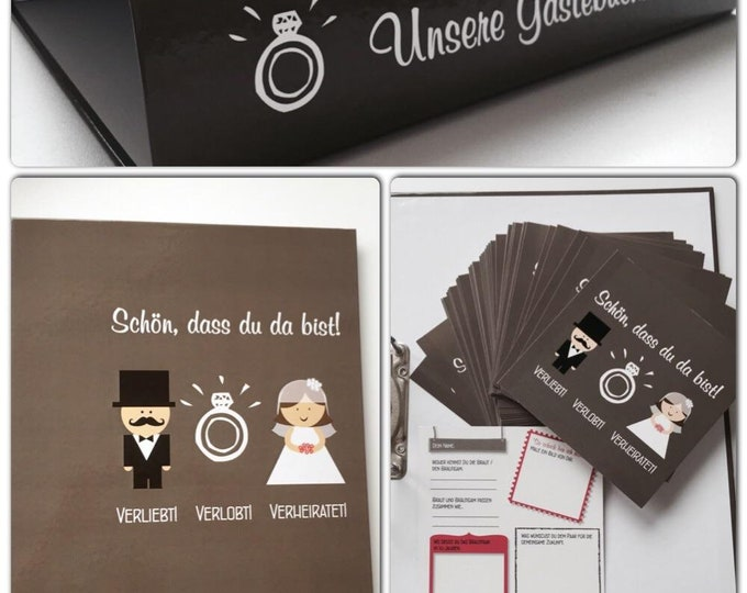 100 Guestbook Wedding Cards + folders