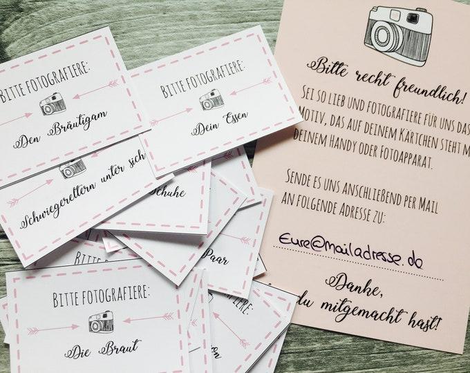 Hochzeitsspiel 54 Fotoaufträge - Fotospiel PDF