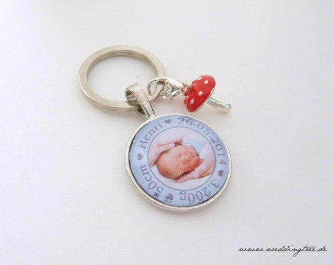 Gift baby, personalized keychain, gift parents, gift to give birth, gift baptism, godchild, parents, baptism, godmother