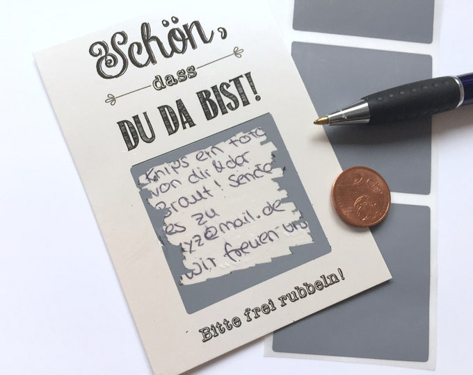 Guest Gift wedding-Scratch cards Pearl made