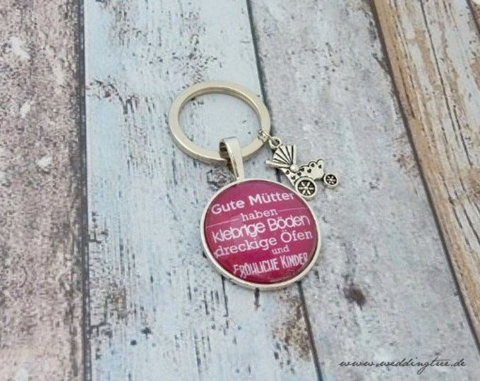 Mom pendant, custom keychain, gift to birth, gift birthday, baptism, kids, chaos, thank you mom, household