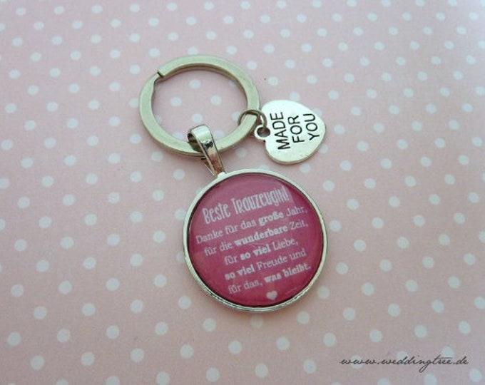 Gift Trauwitness, Keyring, Gift Girlfriend of the Bride, Keyring Gift to Wedding, Best Girlfriend, Say Thank You,