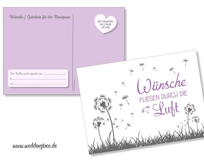 50 balloon flight tickets to wedding pusteblumen lilac
