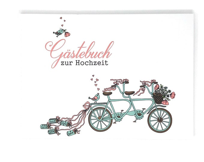 Wedding Guestbook, guestbook with questions, wedding guestbook, personalized guestbook for wedding, guest employment, tandem