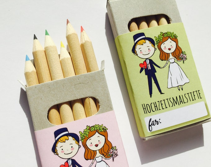 Wedding crayons, wedding gift, children at the wedding, wedding gift, wedding coloring Book