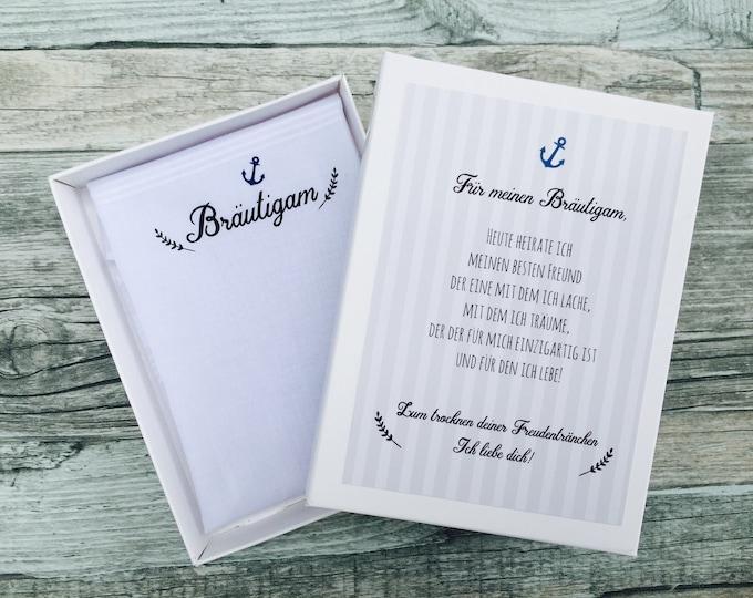 Gift Groom-handkerchief for tears of joy-gift to the wedding