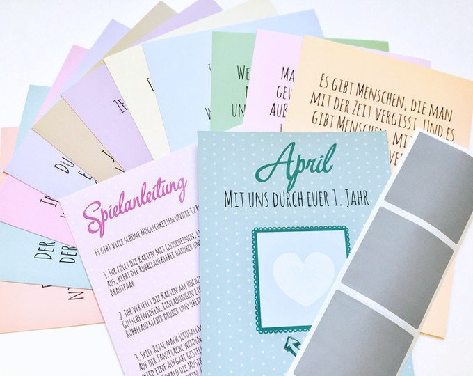 "Wedding Game ""With us through your first year"" scratch cards for vouchers for the newlyweds"