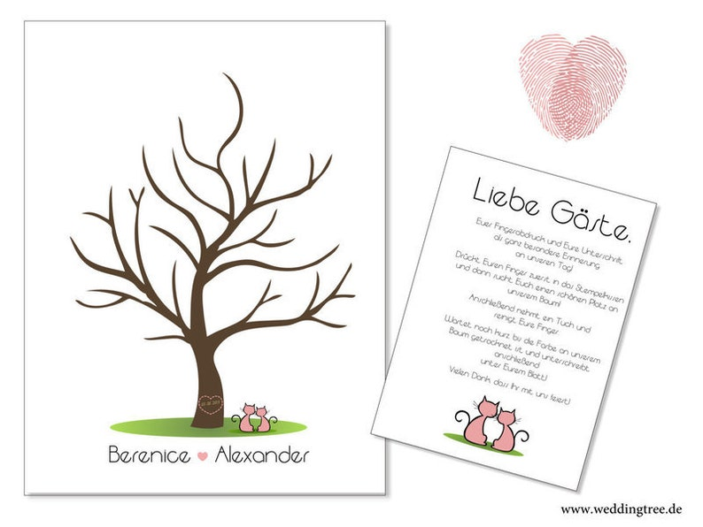 Stamp Me Wedding Tree little hearts PDF image 0
