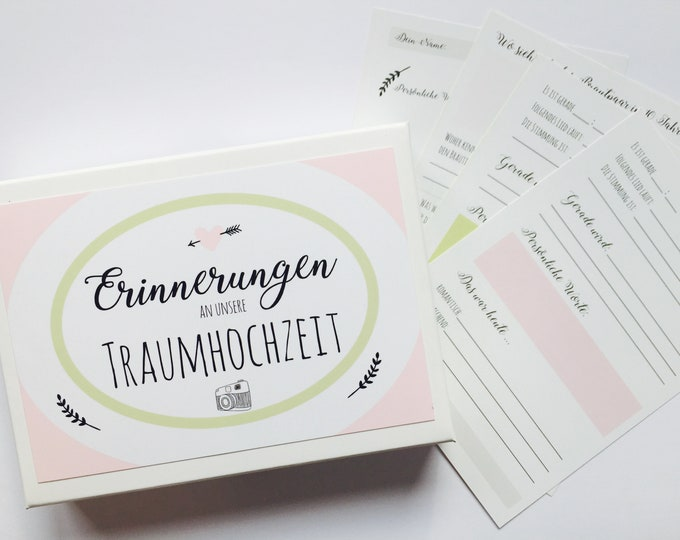 Guest Book cards for Wedding