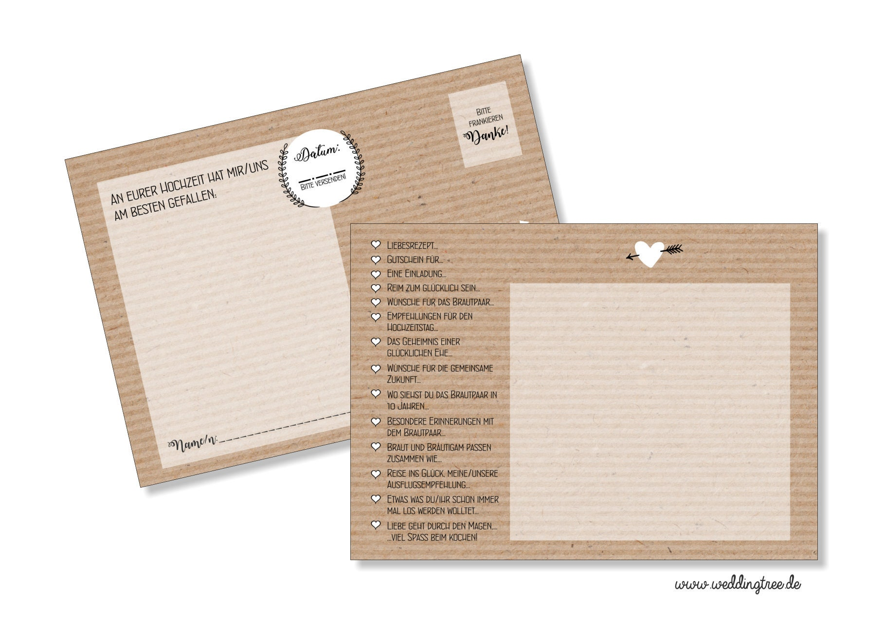 52 Cards Wedding Game-post Card card Kraft paper Optics-52 postcards ...