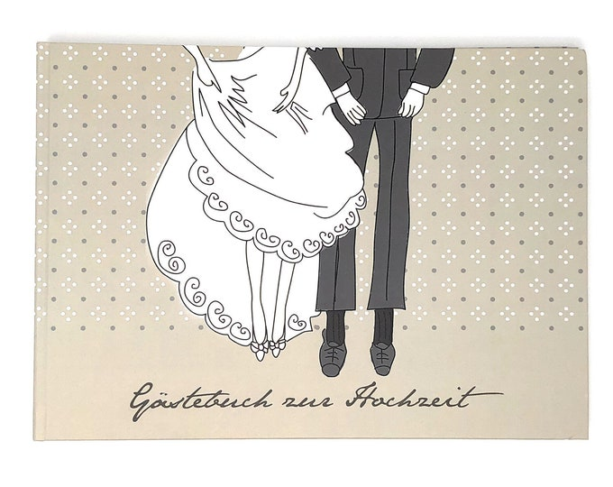 Guestbook for the wedding-bridal couple-wedding Guestbook with questions