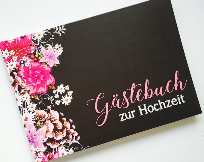 Guestbook Wedding-with questions to the guests.