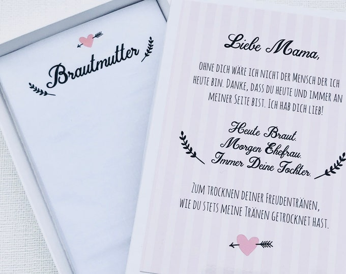 Gift Bridal mother-handkerchief for tears of joy-fabric tissue