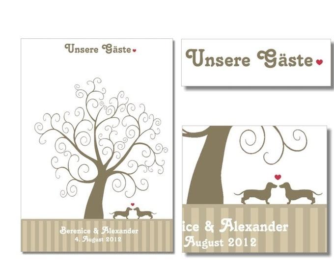 "Stamp Me Wedding Tree ""Dogs""(PDF)"