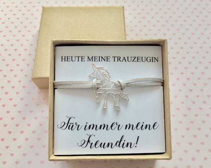 Gift Wedding Witness-Bracelet Unicorn