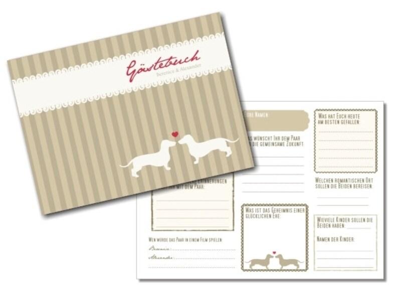 Gästebuch Hochzeit mit Gästefragen PDF image 0