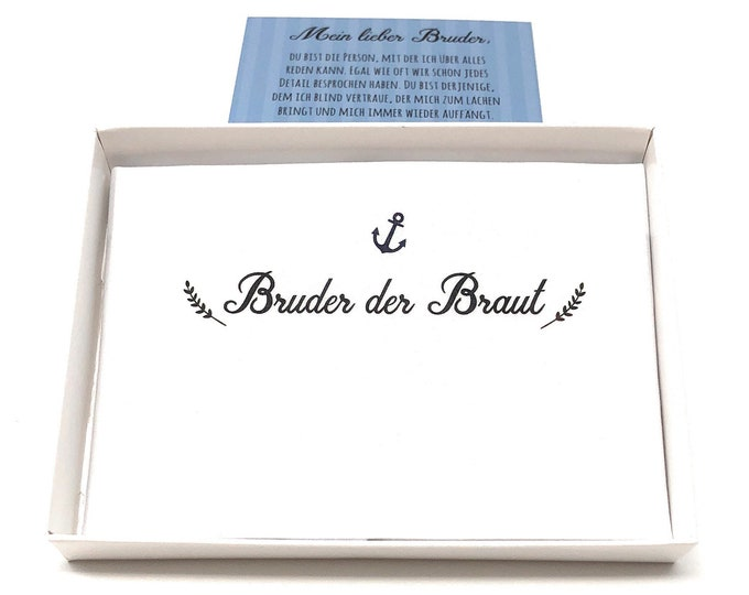 Wedding gift brother of the bride-handkerchief for tears of joy-gift man