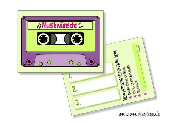 Musikwunschkarten | 50 Stück