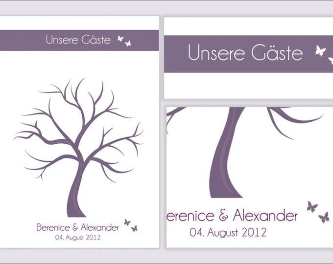 "Stamp Me Wedding Tree ""Butterflies""(PDF)"