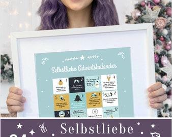 Self-love advent calendar with 24 mindfulness exercises - A3 Christmas Calendar