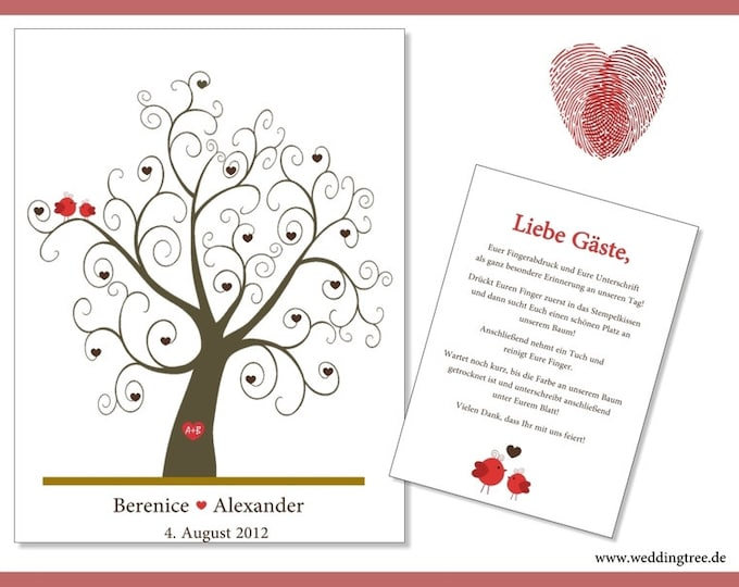"Stamp Me Wedding Tree ""little hearts"" (PDF)"