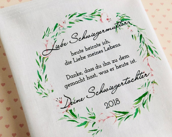 Gift mother in law-handkerchief for tears of joy to the wedding