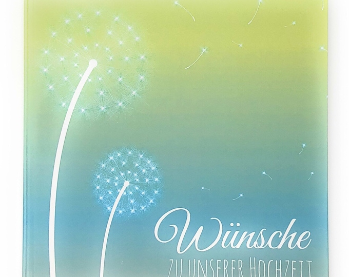 Wedding Guestbook-Flower blue-Wedding Guestbook