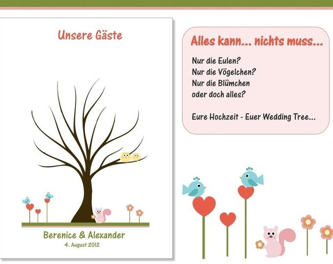 "Stamp Me Wedding Tree ""Forrest"" (PDF)"
