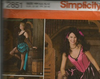 Simplicity Pattern #2851 - Saloon Girl/Wild West costume