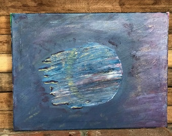 Blue Moon Abstract