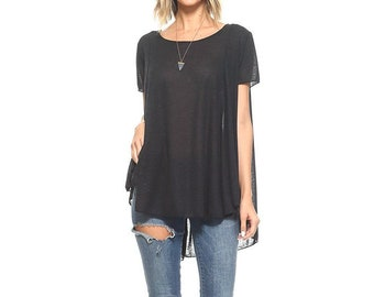tunics, flowy shirt, black top, plus size, flowy tunic, womens clothing, boho, basic tunics, soft shirts, tunic tops, womens fashion