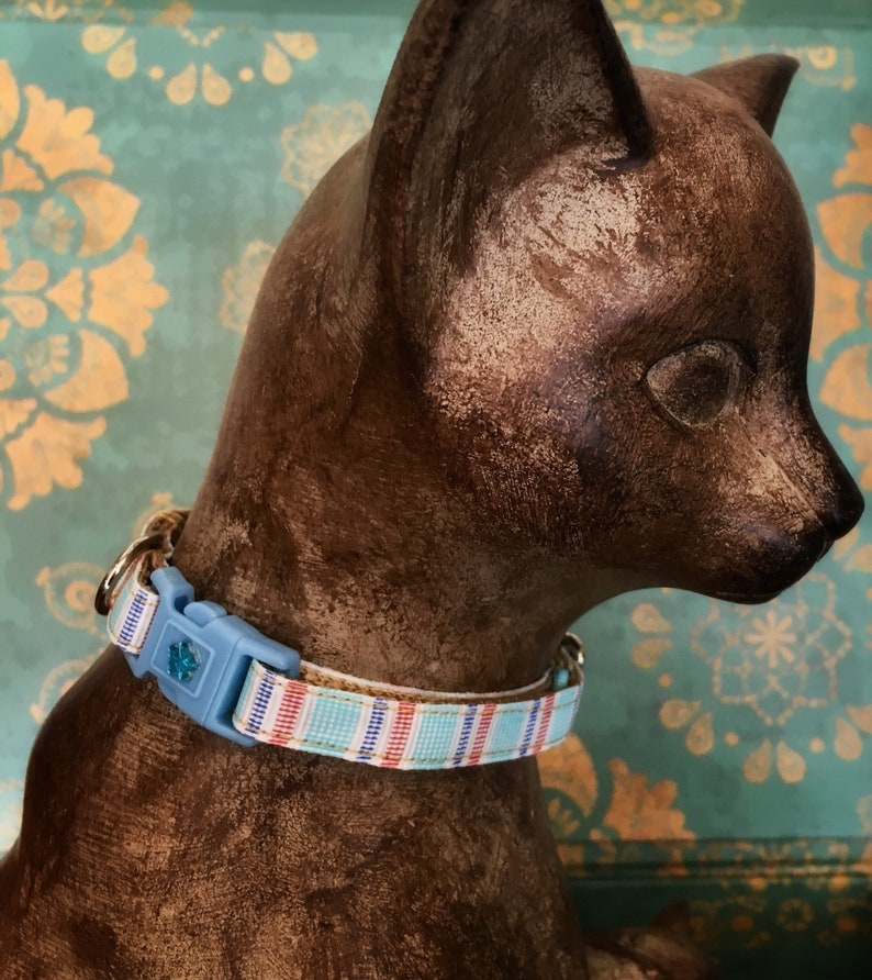 82a7f521b2454 Spring Pastel Cat Collar or Cat Harness, Breakaway Buckle, Safety Cat  Collar, Colorful Cat Collar, Kitten Collar, Handmade Kitty Colla