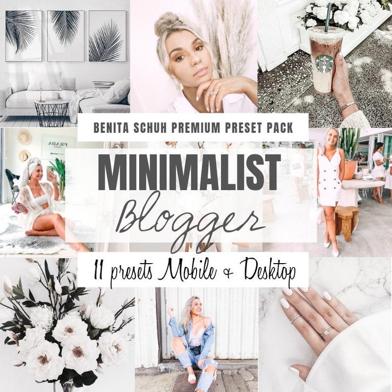 11 Mobile + Desktop Presets, Premium Lightroom Presets, Minimalist Presets,  Bright and clean Presets, presets for instagram, blogger presets