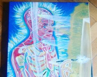 Alex Grey Study Painting