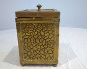 Antique tea caddy, Arts and crafts period.
