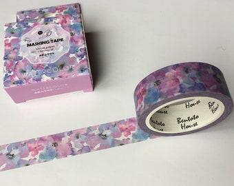 Pastel Flowers Washi Tape Floral Masking Tape Planner Organizer 15mm kawaii Scrapbooking 7M Stickers