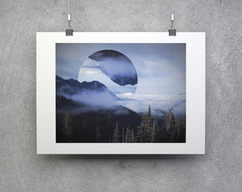 Olympic - Polyscape - Geometric - Landscape - National Park - Wall decor