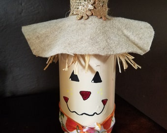 Scarecrow candle decoration