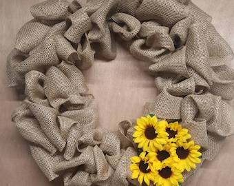 You are my sunflower wreath