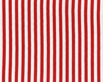 Red White Stripe Fabric By The Yard Fat Quarter Large Red Etsy