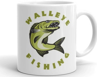 Fishing mug, Walleye fishing, Gift for fisherman, fishing,  Walleye fishing mug
