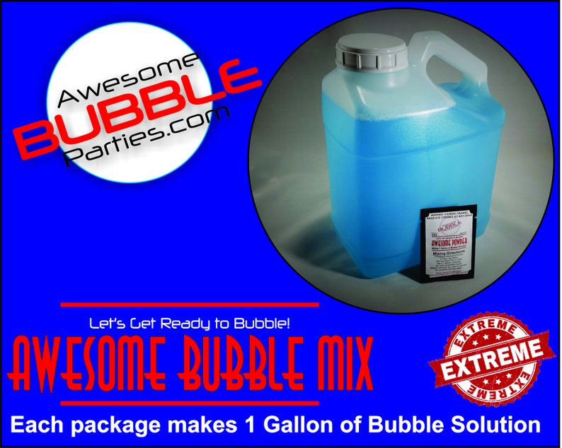 Awesome Bubble Powder: 4 or 10 Packets. Each packet makes image 0