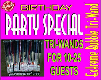 FREE SHIPPING: Bubble Wand -Party Special- Giant Bubble Wands for your birthday party. Special price for 10-25 guests includes free shipping
