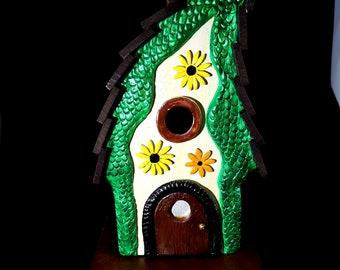 Garden Lodge Birdhouse, bird house, garden art, hand made, birdhouses, bird houses