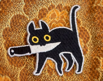 Knifecat embroidered patch