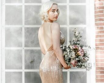 Gatsby wedding dress etsy marilyn gold sequin gown sequin wedding dress great gatsby wedding dress vintage gown backless dress open back dress fishtail mermaid junglespirit Choice Image