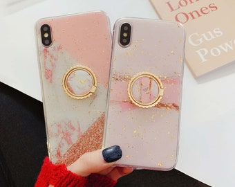 651f1fe4e5a Marble Marbled Glitter iPhone XR Case iPhone XS Max Case iPhone X Case for  iPhone 6 Plus iPhone 7 Plus iPhone 8 Plus Case with Phone Ring