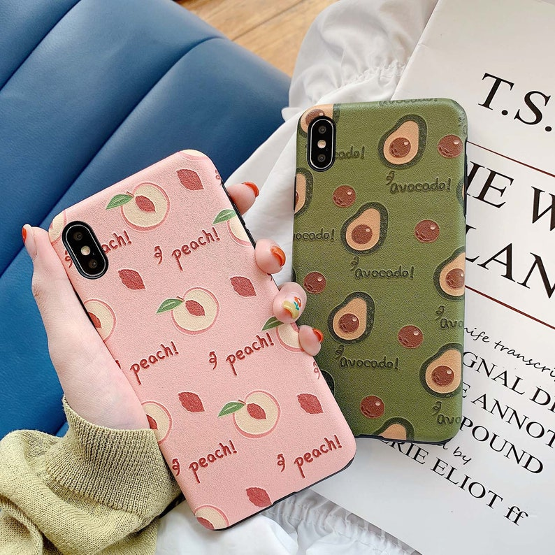 Peach Phone Case Soft Silicone Cover iPhone 5S/6S/6/7/8/PLUS/X  Etsy